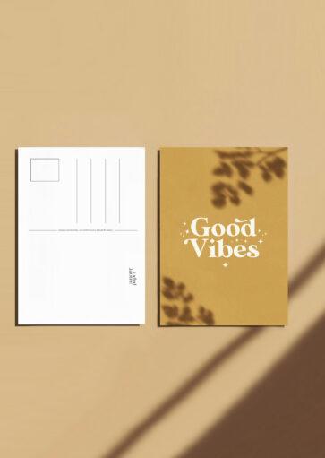Carte postale Good Vibes