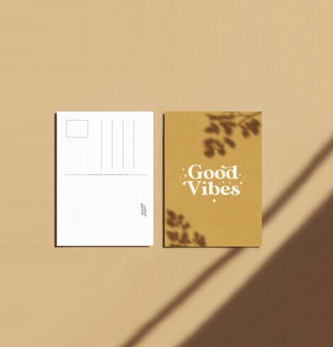 carte postale good vibes home