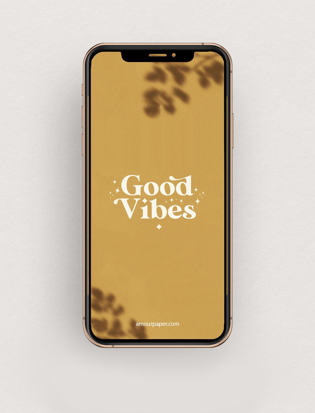 fond ecran gratuit good vibes motivation