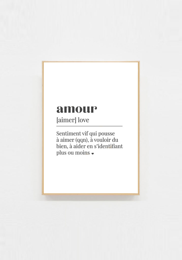 carte deco message amour