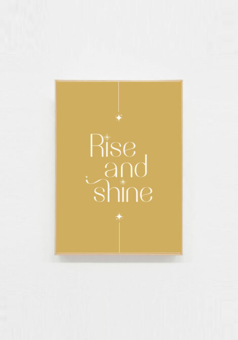 carte postale message positif rise and shine