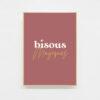 Carte postale bisous magiques deco art