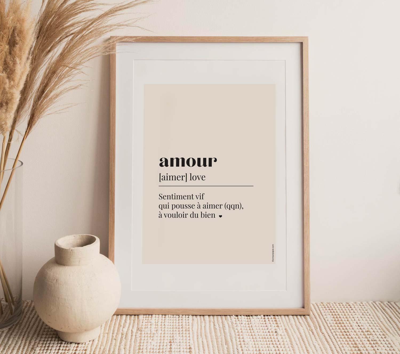 affiche a imprimer amour