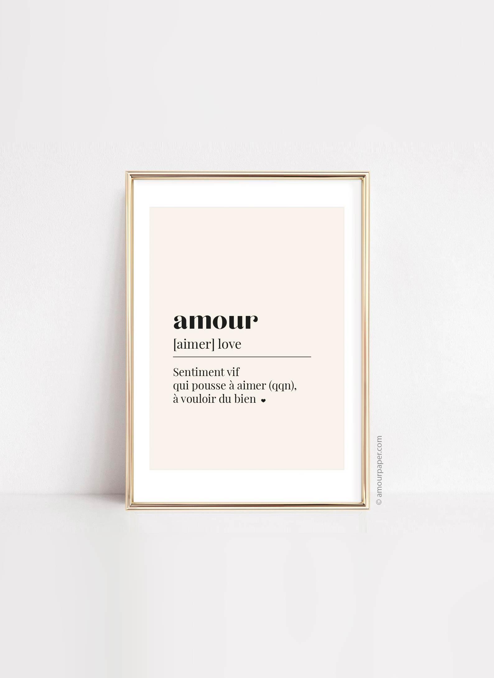 affiche imprimable amour décoration murale