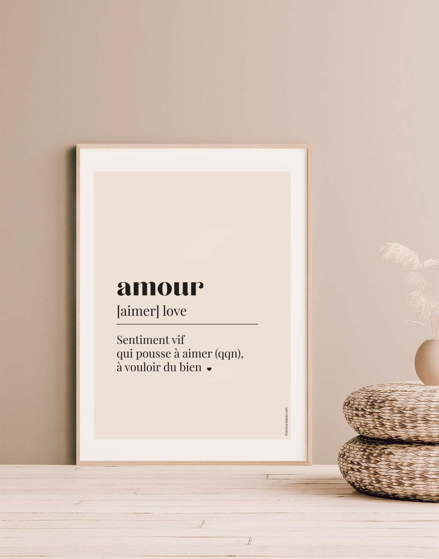 affiche amour decoration art mural