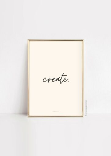 Affiche Create à imprimer