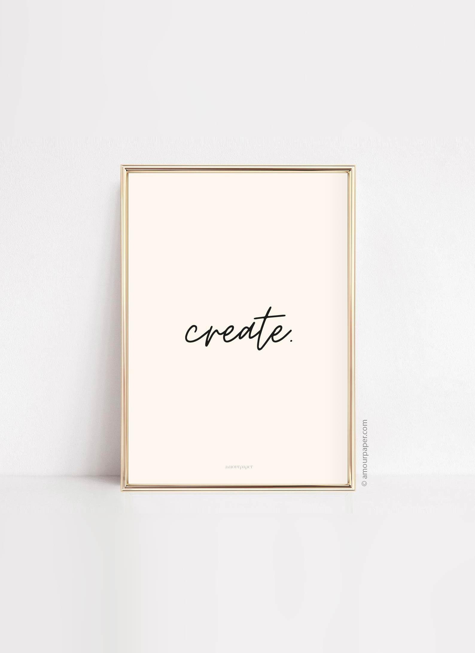 affiche create