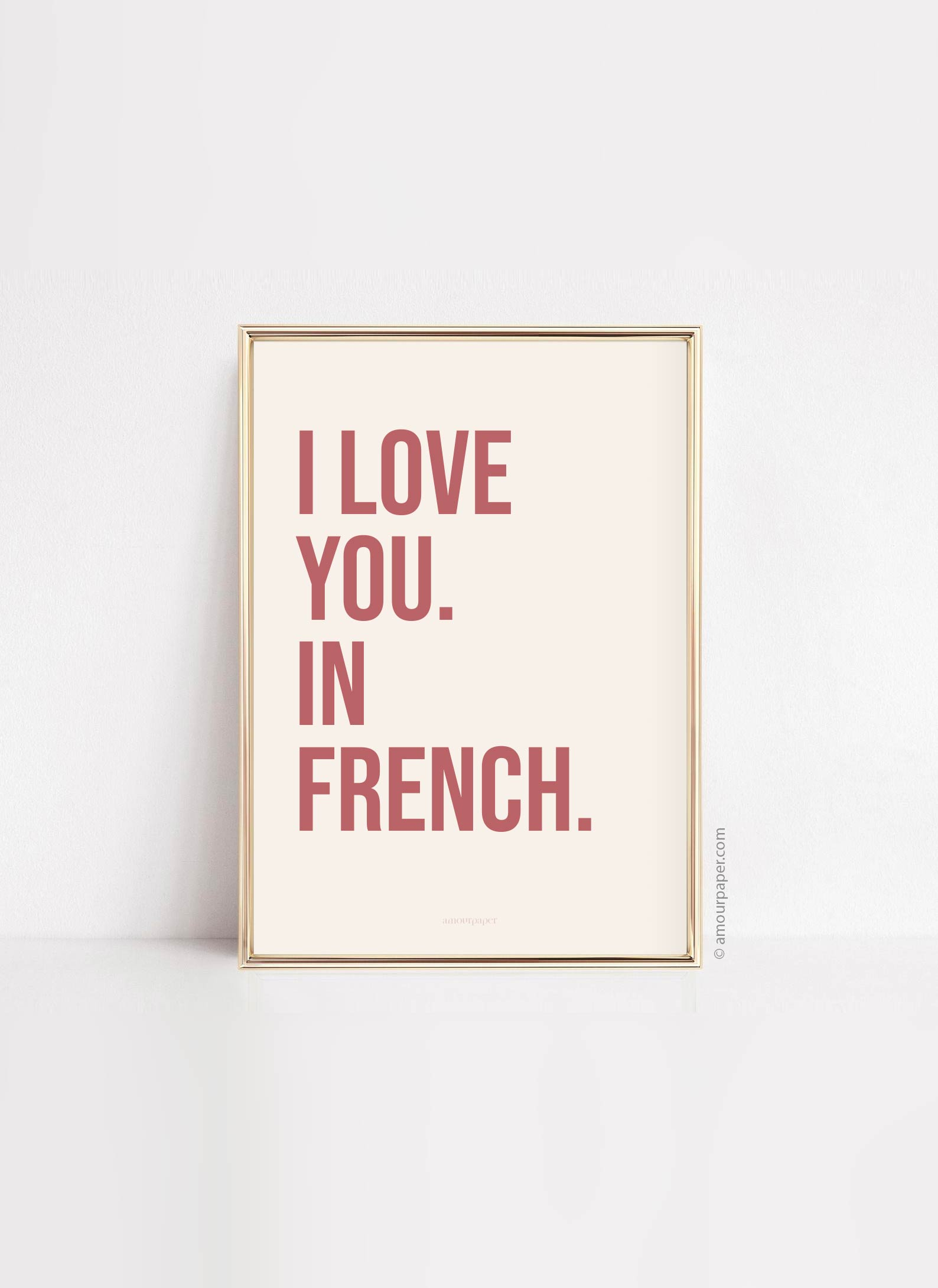 affiche i love you in french