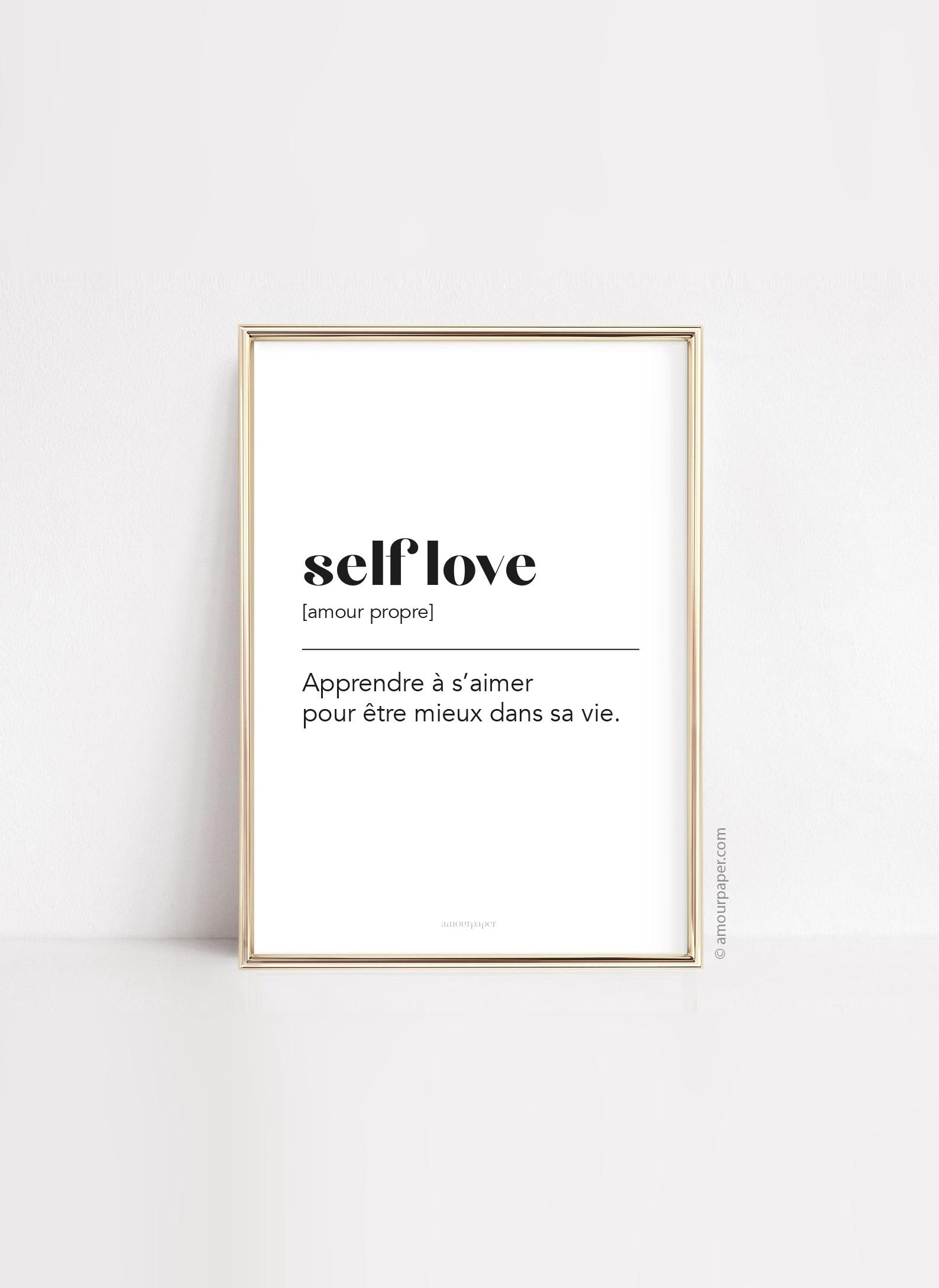 affiche self love