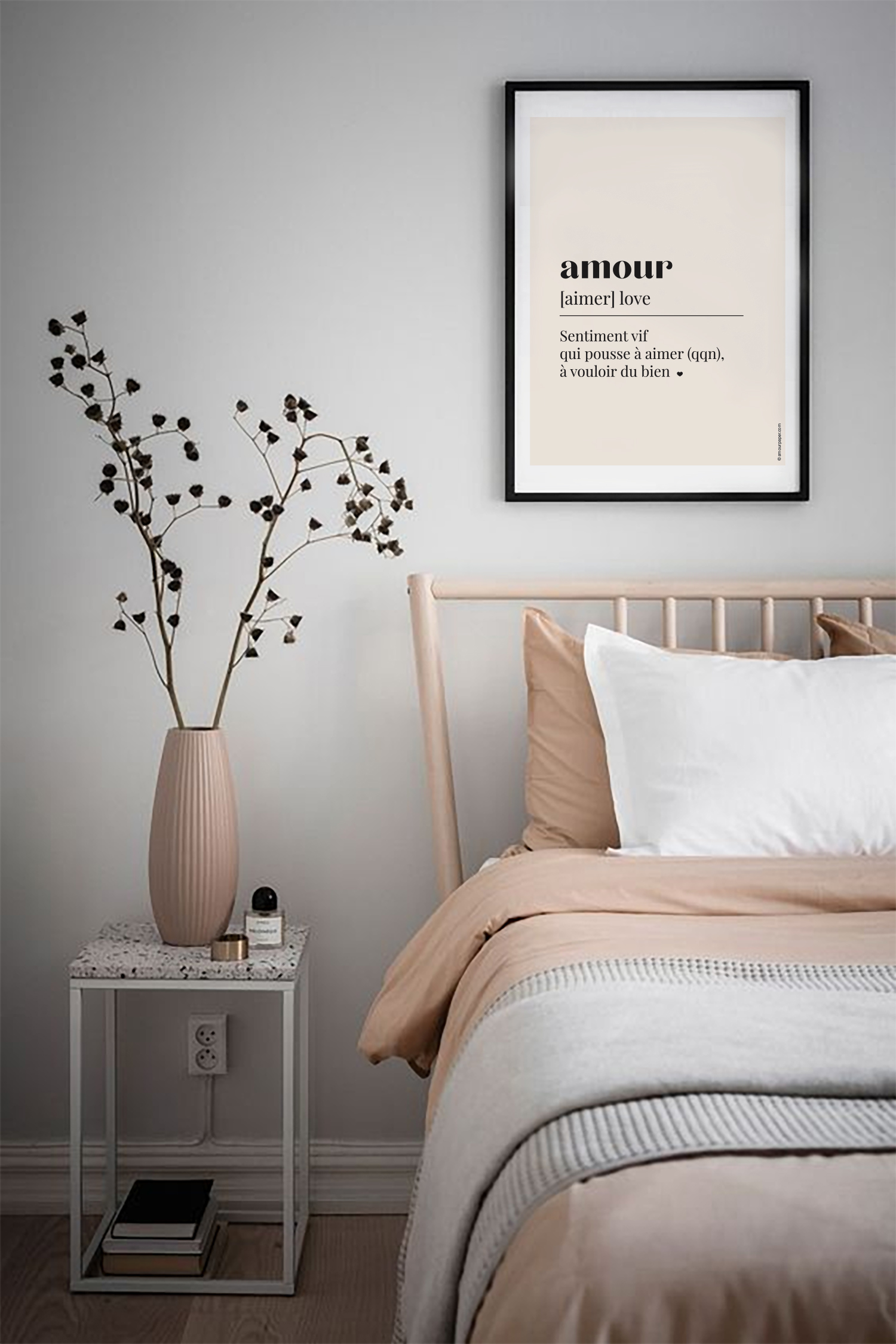 decoration murale chambre poster amour
