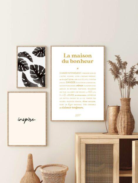 poster la maison du bonheur decoration murale