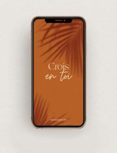 Read more about the article Fond d'écran «Crois en toi» motivation et réussite