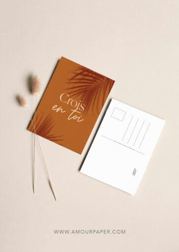 Carte postale Crois en toi