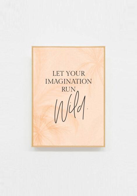 carte postale motivation let your imagination run wild