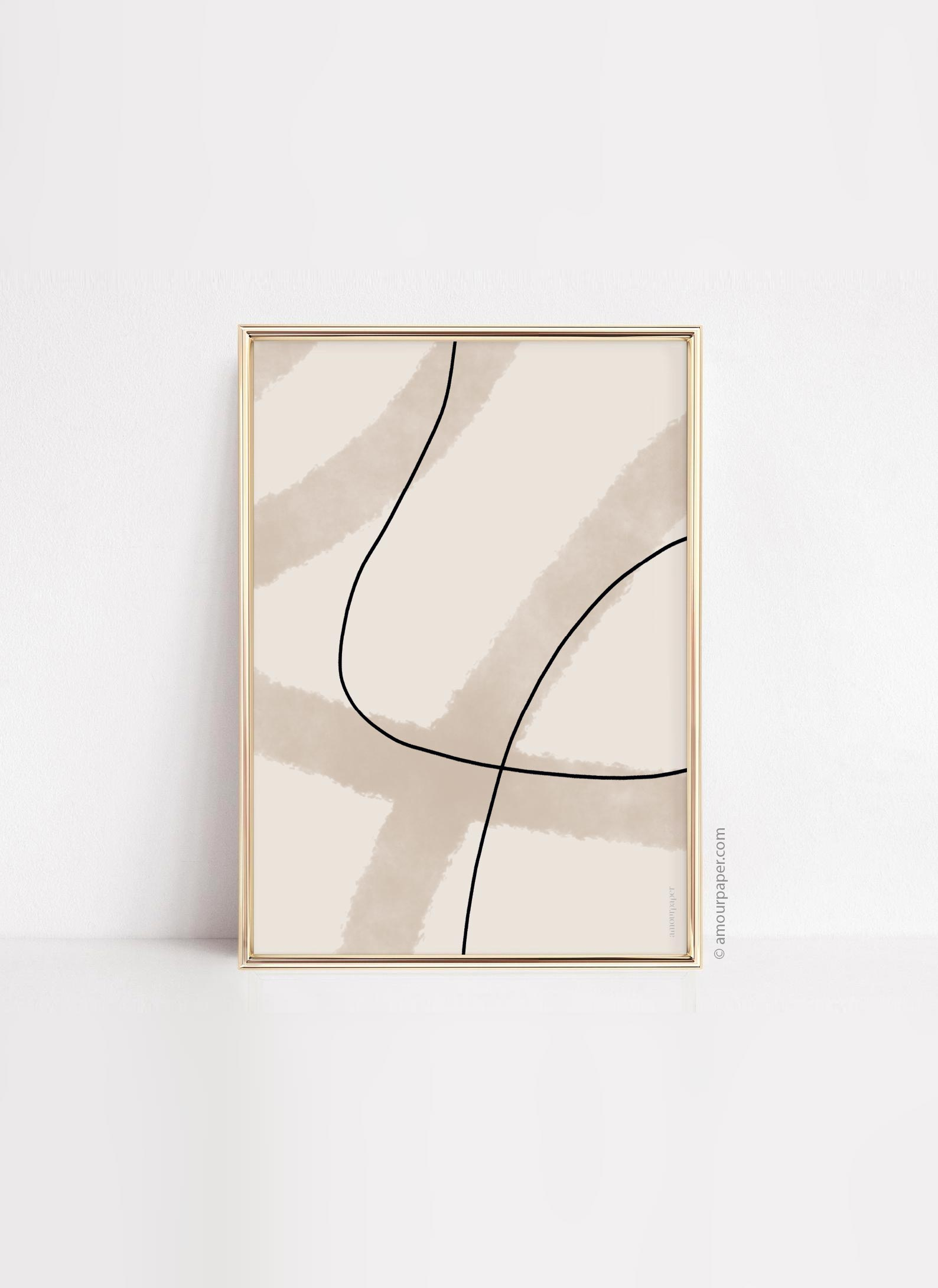 posters lines art home decoration