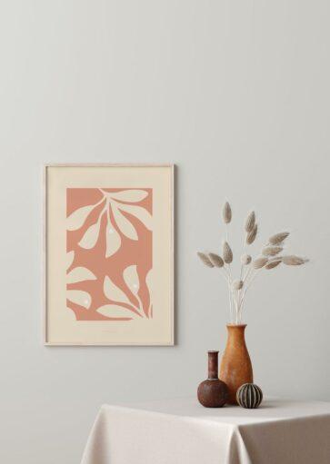 Affiche Papiers découpés Palm à imprimer
