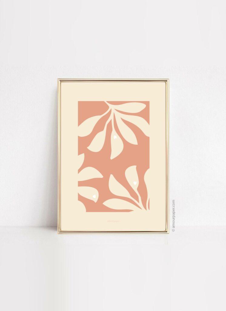 affiche papiers decoupes palm a imprimer decoration cadre