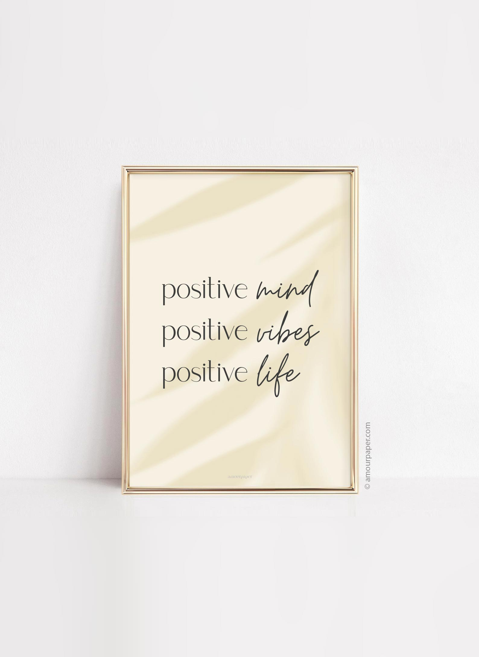 deco art mural positive vibes poster